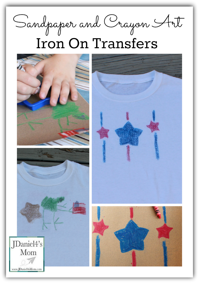 Sandpaper and Crayon Art Iron On Transfers