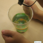 Science Project Ideas- Sink and Float M&M's- Checking the M's Out