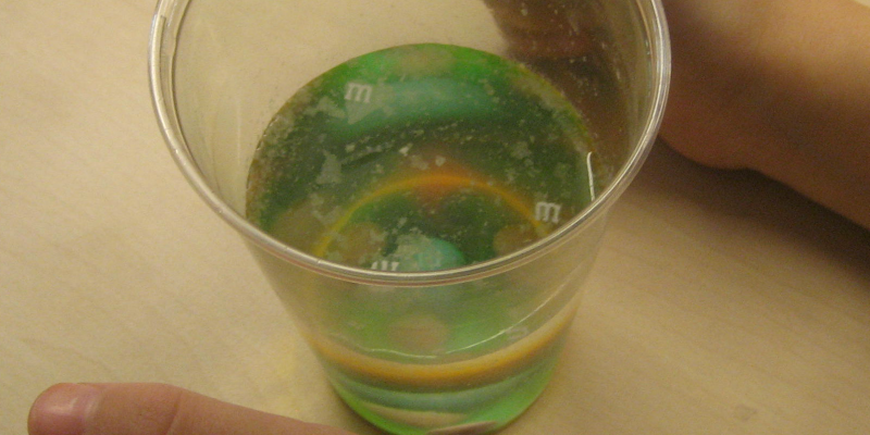 Science Project Ideas- Sink and Float M&M's