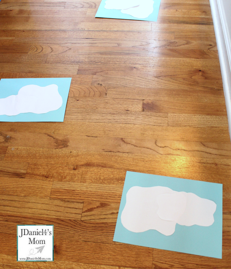 Sensory Activity- Blowing Clouds with a Straw - Clouds on the Floor
