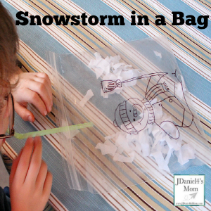 Preschool Activity- Snowstorm in a Bag