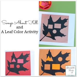 Songs About Fall and Color Activity with Leaves