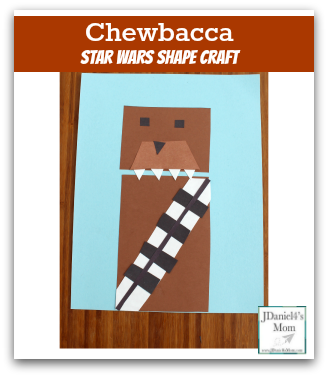 Chewbacca Star Wars Shape Craft