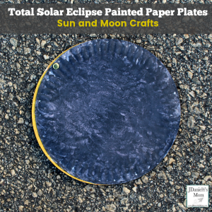 Sun and Moon Crafts- Total Solar Eclipse Painted Paper Plates