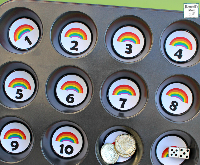 Teaching Numbers with Rainbows and Gold Coins Activity for Kids