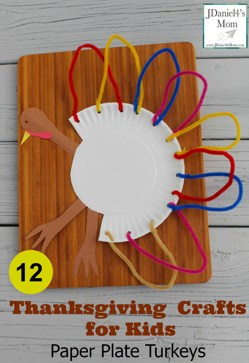 Thankgiving Crafts For Kids Plate