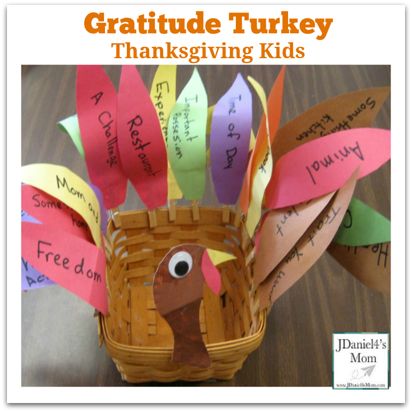 Thanksgiving Kids- Gratitude Turkey