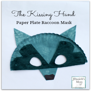 The Kissing Hand Paper Plate Raccoon Mask