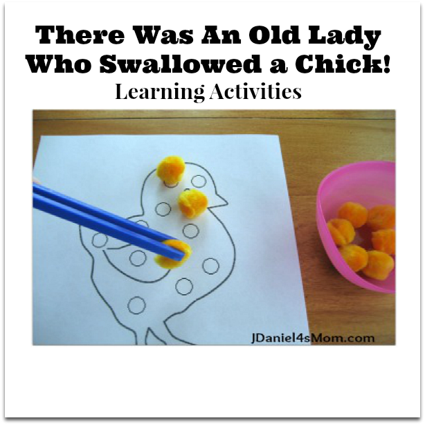There Was An Old Lady Who Swallowed a Chick! Learning Activities