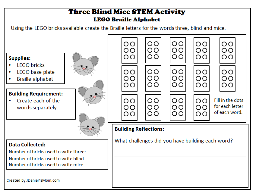 Three Blind Mice Printable