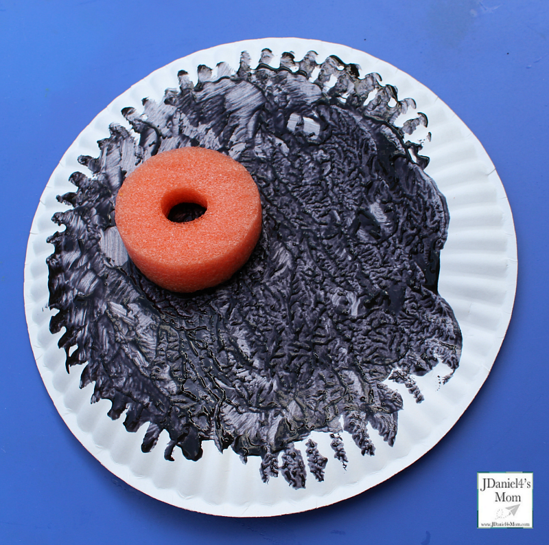 Total Eclipse Painted Paper Plates- Moon Plate
