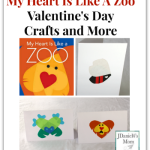 My Heart Is Like a Zoo Valentines Day Crafts