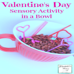 Valentine's Day Sensory Activity in Bowl- This is an invitation to explore a number of skill including fine motors skills and eye and hand coordination