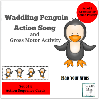 Penguin Action Song and Gross Motor Activities