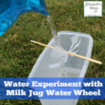 Water Experiment with Milk Jug Water Wheel