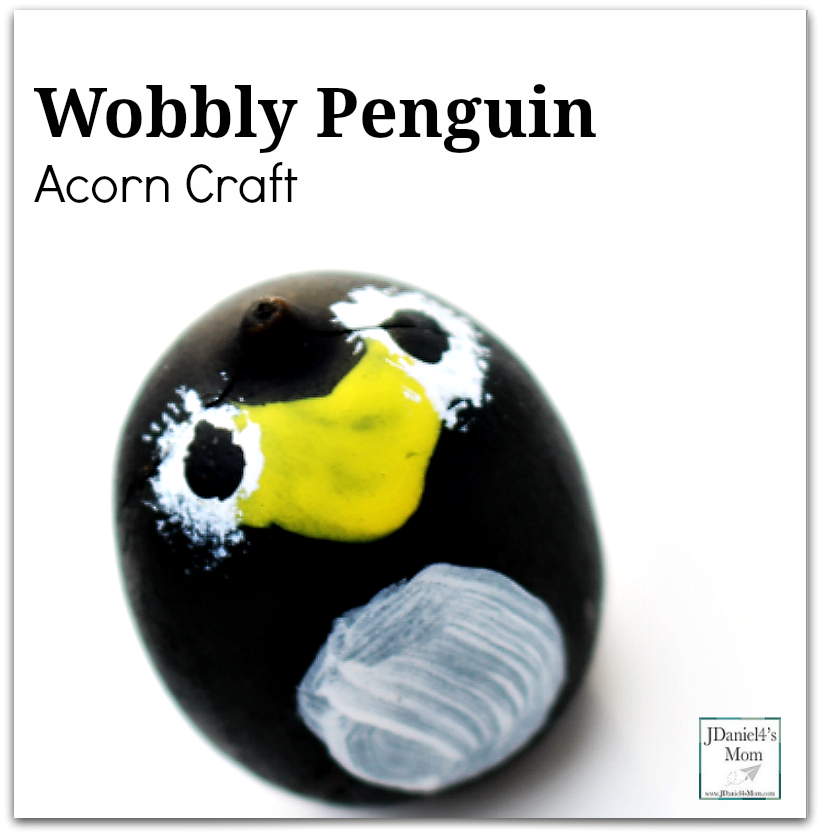 Wobbly Penguin Acorn Craft for Kids - This fun craft transforms an acorn into a wobbly penguin.