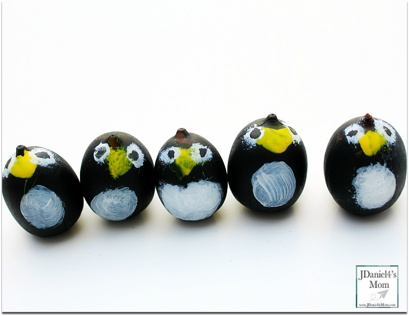 Wobbly Penguin Acorn Craft- There are a variety of way to use the finished craft. Please stop by to see how we used them.