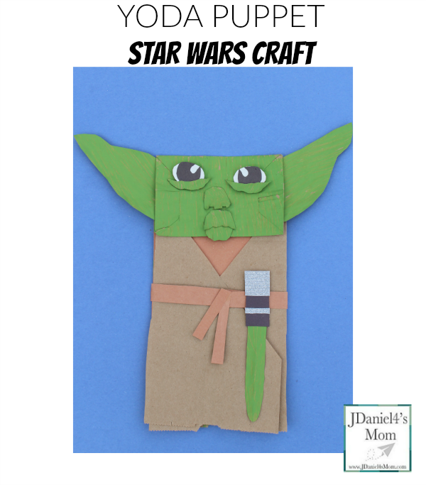 Yoda Puppet Star Wars Craft- Facebook