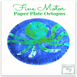 Arts and Crafts Fine Motor Paper Plate Octopus