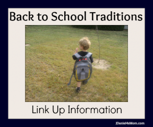 Back to School Traditions Link Up Information