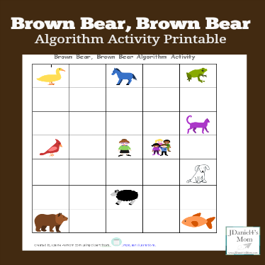 Brown Bear, Brown Bear Algorithm Activity and Printable