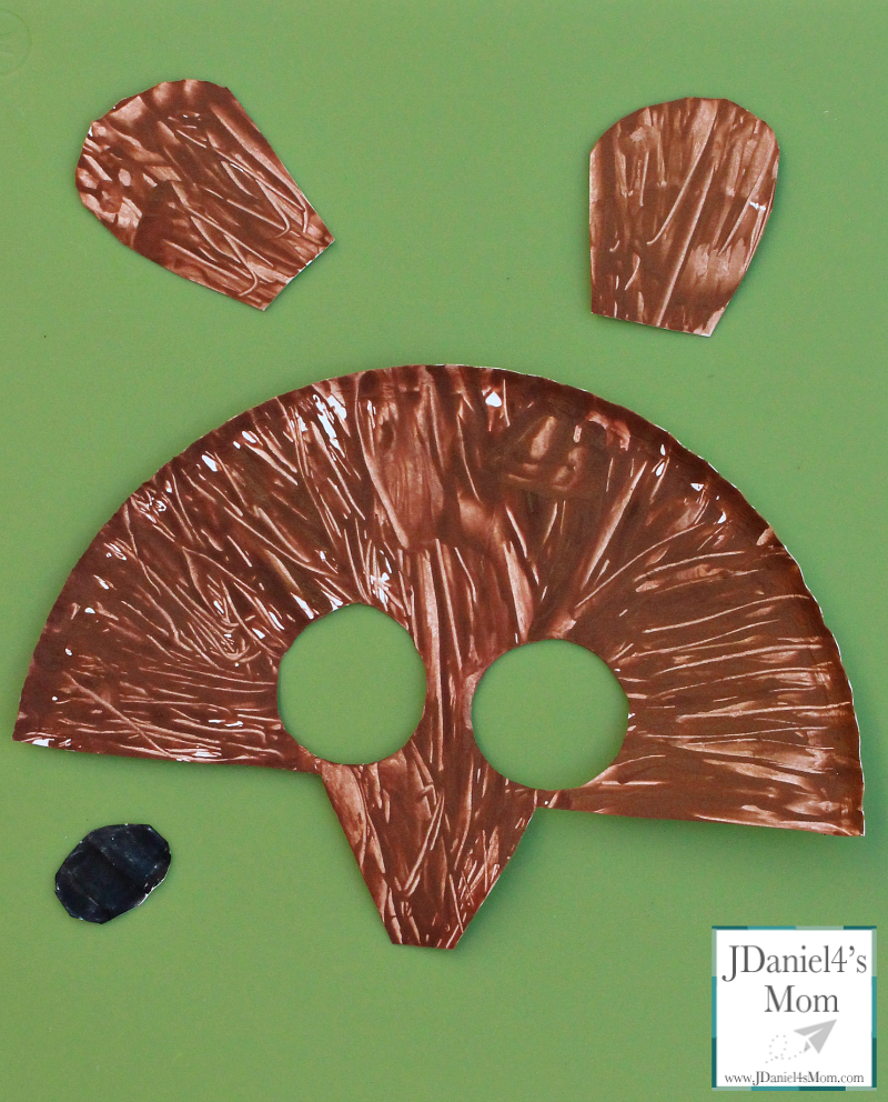 brown bear painted plate parts