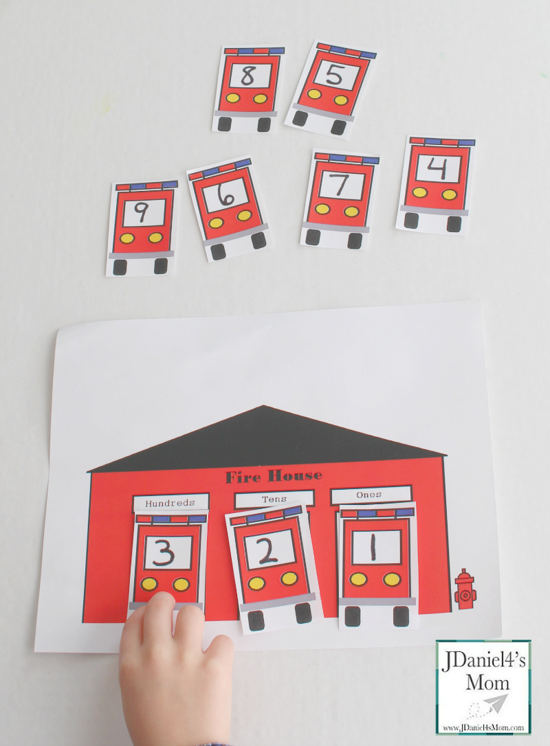 These fire house themed place value charts with number trucks would be great to work with in a center or with your children at home. There is a two digit place value chart and a three digit place value chart in this set.