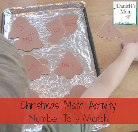 Christmas Math- Activity Number Tally
