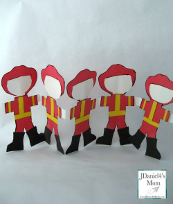 Community Helpers Poem and Craft- Five Little Firefighters