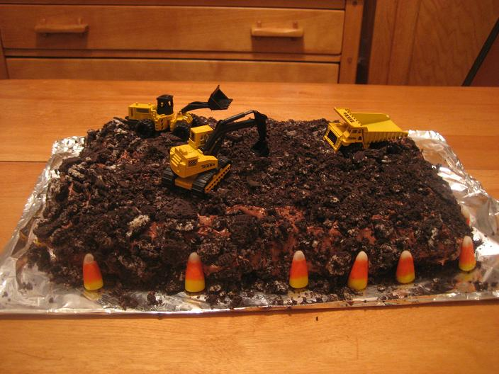 Dig Into Construction Sites- Play Dough Fun - construction site themed cake