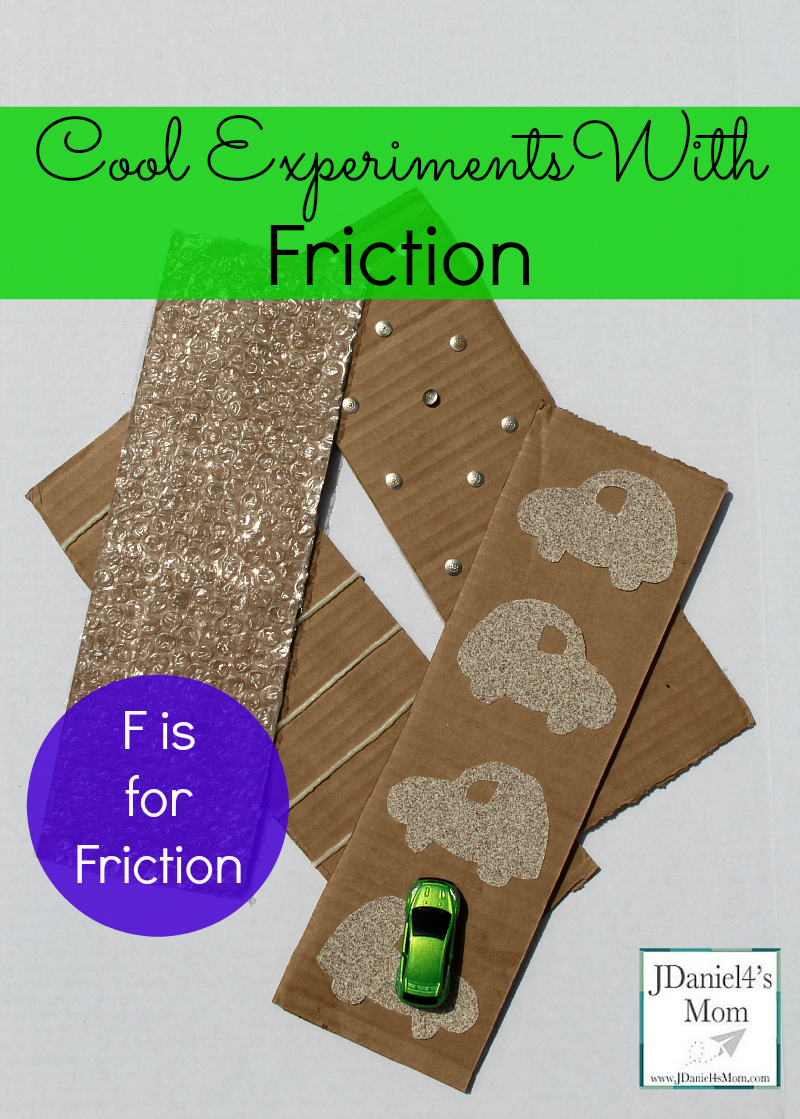 cool experiment with friction- f is for friction