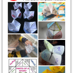 Cootie Catcher Learning Games With Blank Template