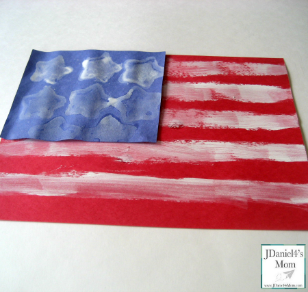 Crafts for Kids- Painted AmericanFlag
