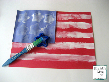 Crafts for Kids- Painted American Flag
