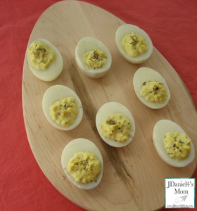 Deviled Egg Recipe for Kids Completed