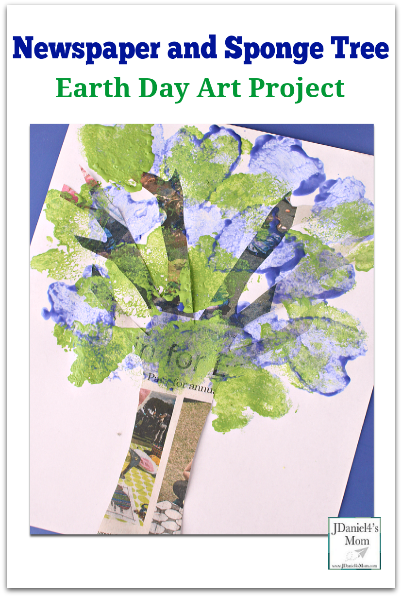 Kids will have fun using paint and old newspapers to make an Earth Day art project.
