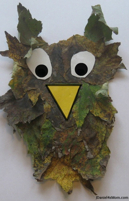 Fall Leaf Craft Owl