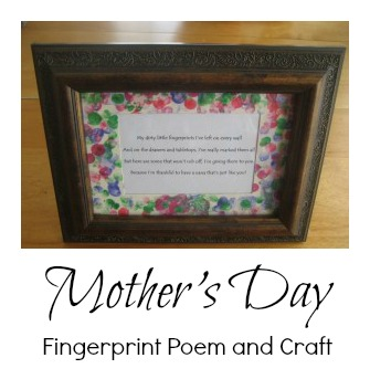{Mother's Day Craft} -His Fingerprints Are Everywhere