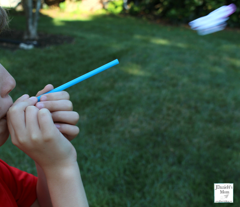 Fireworks Straw Rockets with Printable - Soaring Rocket