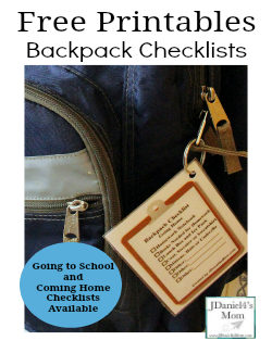 Free Printables Backpack Checklists