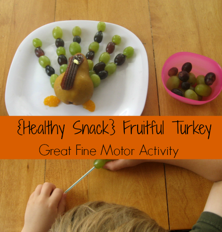 Healthy Snack- Fruitful Turkey