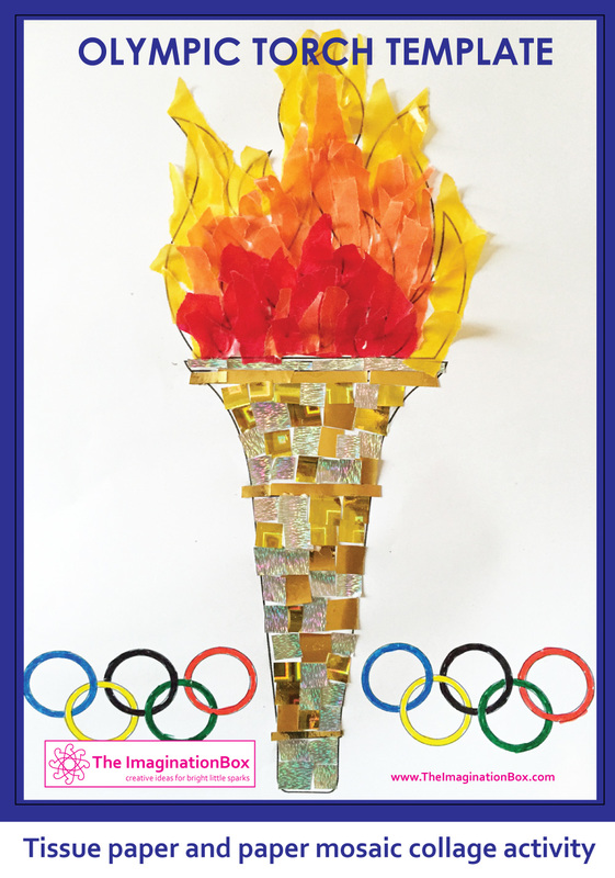 Olympic Torch Craft  Ideas for Kids