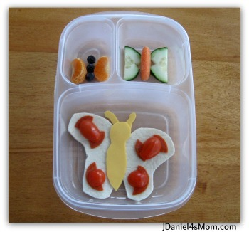Healthy Snack for Kids - Butterflies in a Bento