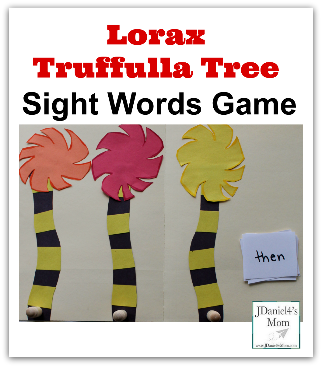 lorax truffulla tree sight words game