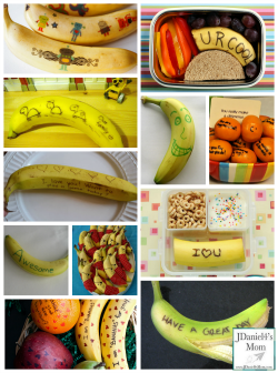 Lunch Box Ideas- Banana and Orange Messages