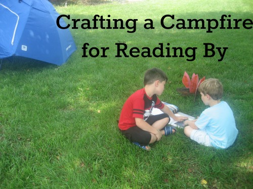 Crafting a Campfire to Read By- Painting the Fire Flames on Cardboard