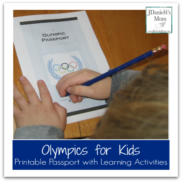 Olympics for Kids: Printable Passport with Learning Activities