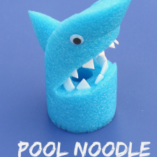 Arts and Crafts for Kids- Pool Noodle Shark