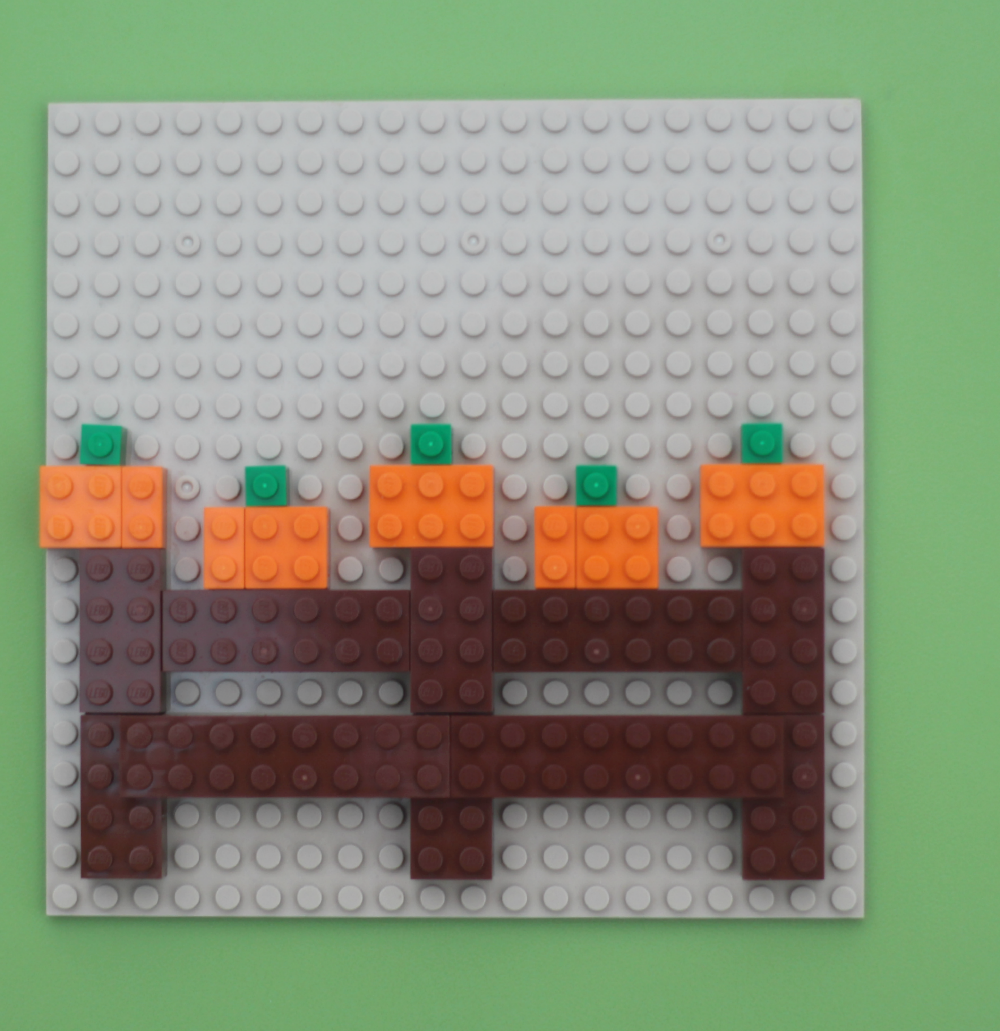 Five Little Pumpkins LEGO Idea and Songs