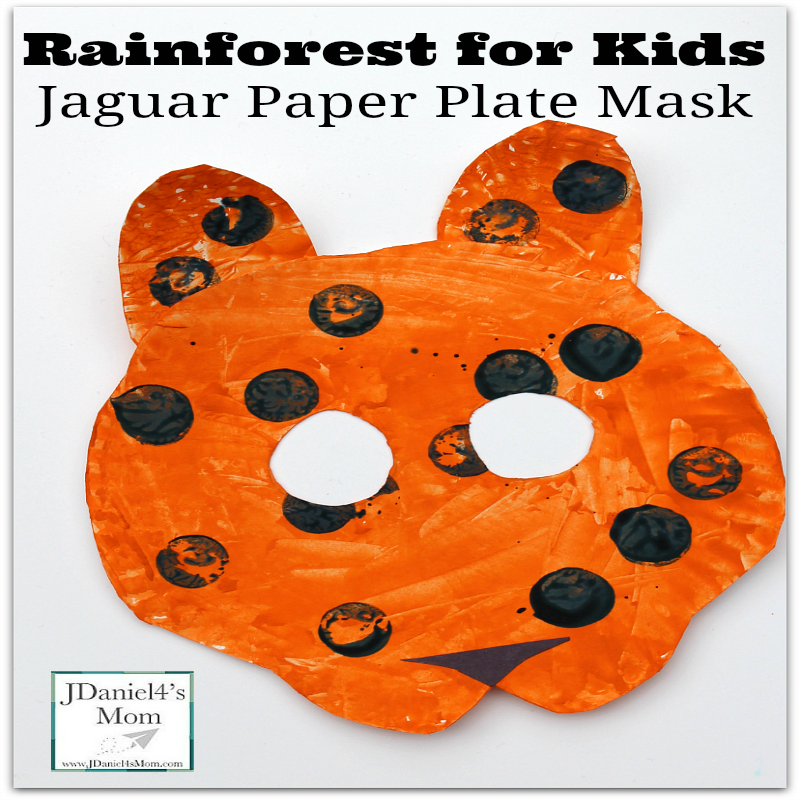 Rainforest for Kids -Jaguar Paper Plate Craft